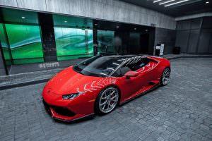 Lamborghini Huracan Rosso Corsa на дисках Strasse