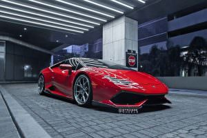Lamborghini Huracan Rosso Corsa на дисках Strasse Wheels