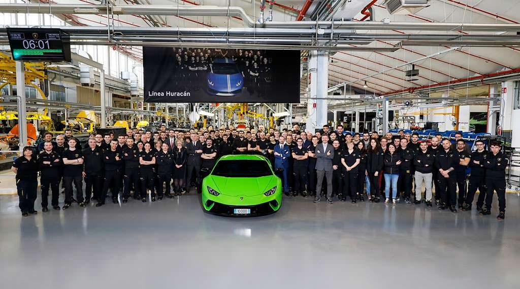 Производство Lamborghini Huracan: выпущено 10 000 штук