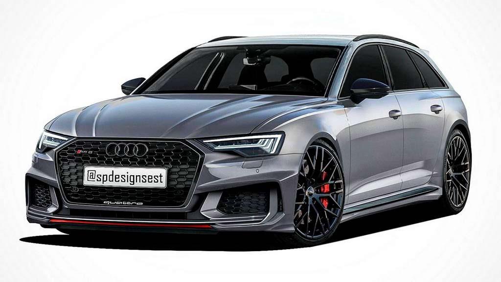 Новый универсал Audi RS6 2019. Рендер от SPdesignsest