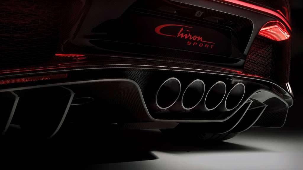 Облегченная выхлопная система Bugatti Chiron Sport