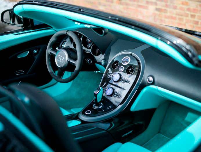 Фото внутри Bugatti Veyron Tiffany Edition