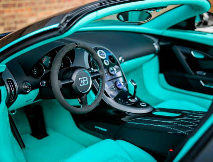 Фото салона Bugatti Veyron Tiffany Edition