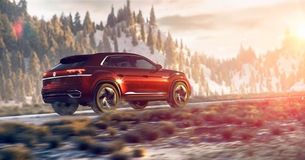 Пятиместный кроссовер Volkswagen Atlas Cross Sport Concept