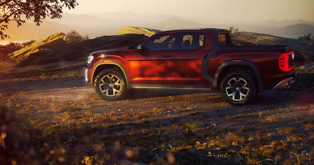 Пикап Volkswagen Atlas Tanoak Pickup Concept