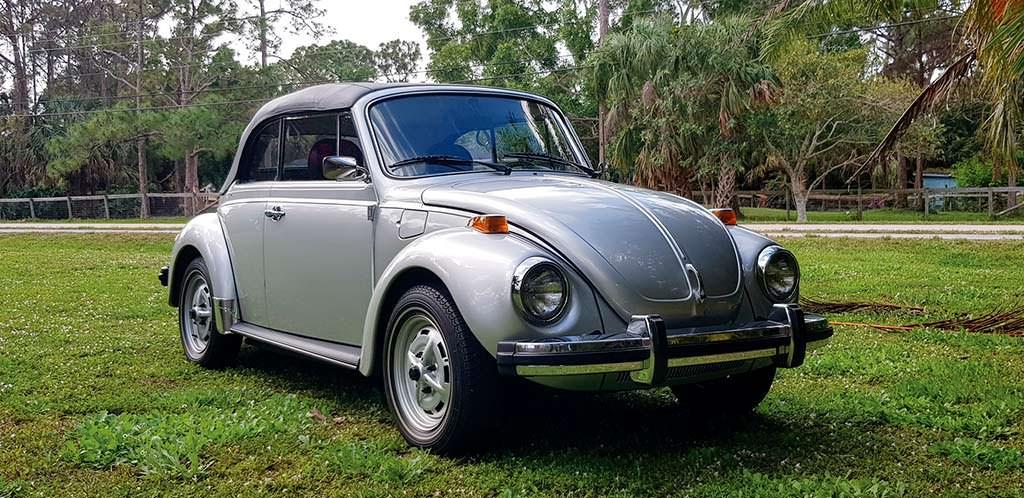 Классический VW Beetle 1979 года с пробегом 1287 км