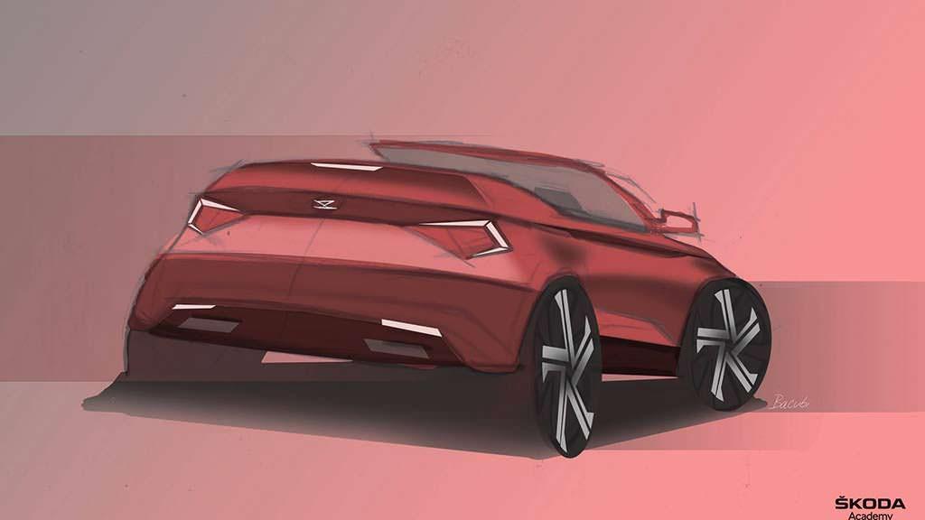 Скетч Skoda Karoq Cabriolet Concept