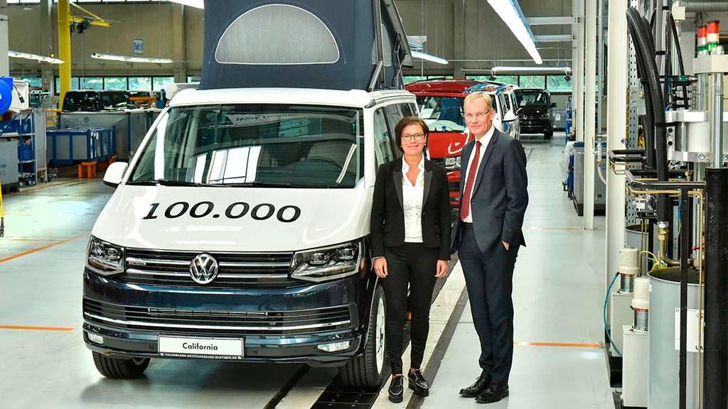 100 000-й туристический фургон Volkswagen California Ocean