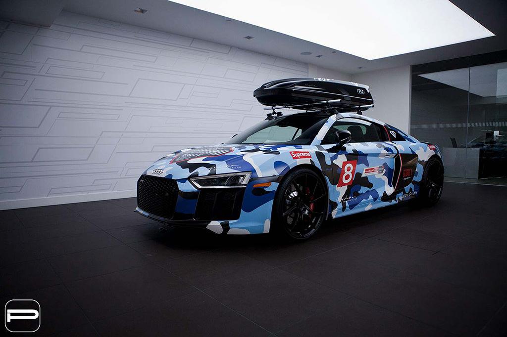 Камуфляж-винил Audi R8 от PUR Wheels