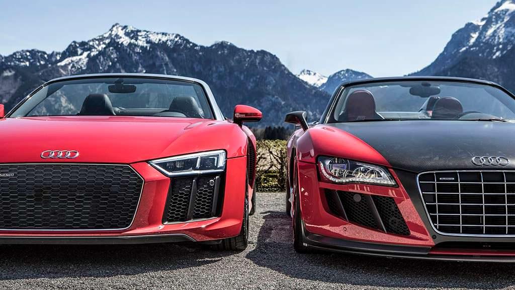 Старая и новая Audi R8 Spyder тет-а-тет