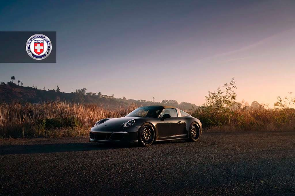 Porsche 911 Targa 4 GTS на дисках HRE 540 Series