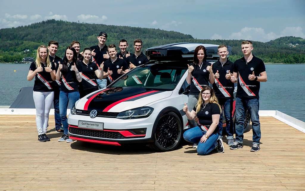 Volkswagen Golf Variant TGI GMOTION от стажеров