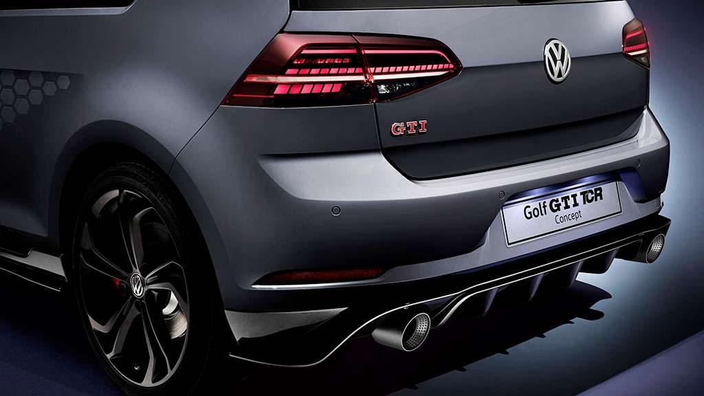 Задний диффузор Volkswagen Golf GTI TCR Concept