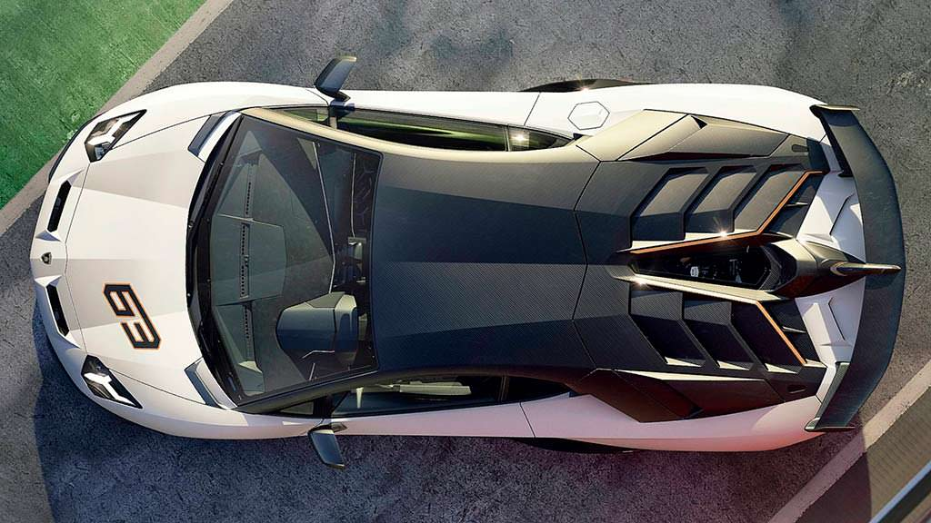Топовый суперкар Lamborghini Aventador SVJ 63