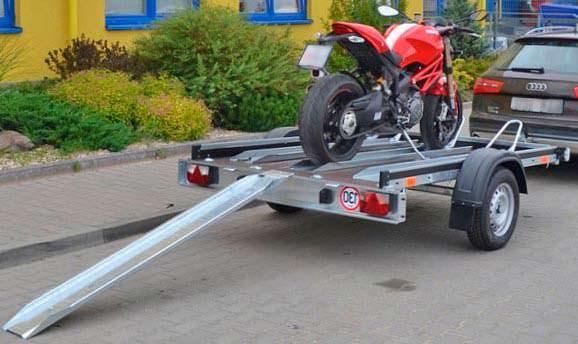 Закрепление мотоцикла на прицепе