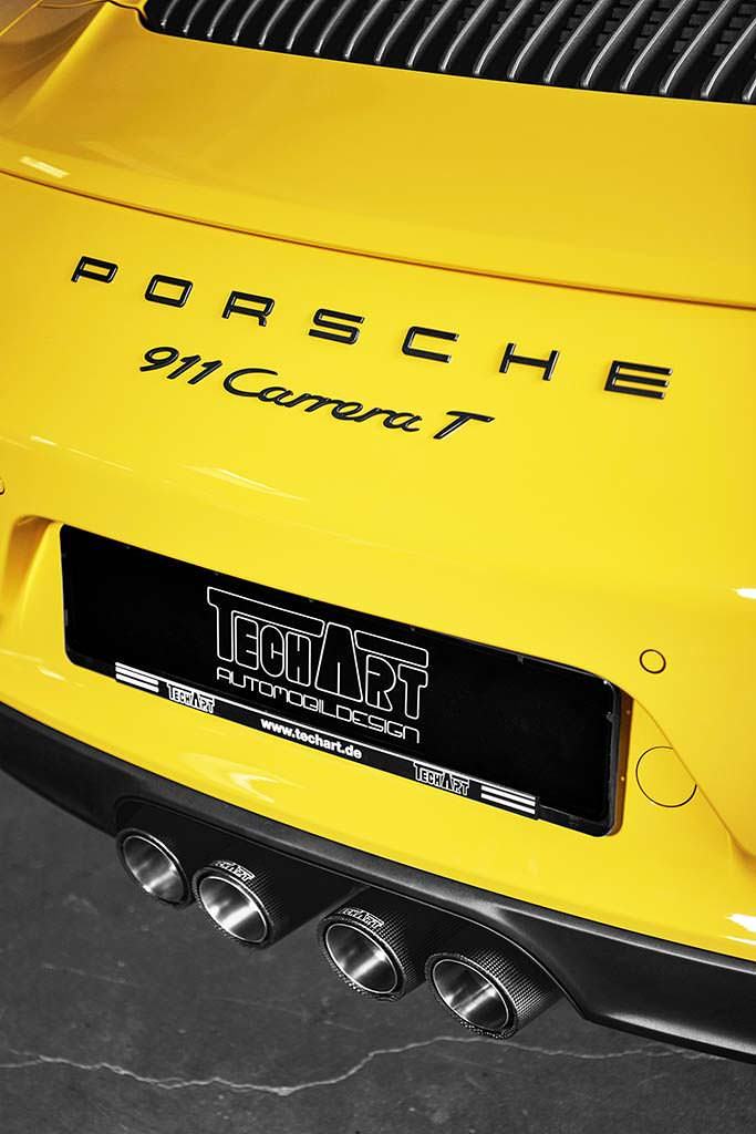 Титановая выхлопная система Porsche 911 Carrera T от TechArt