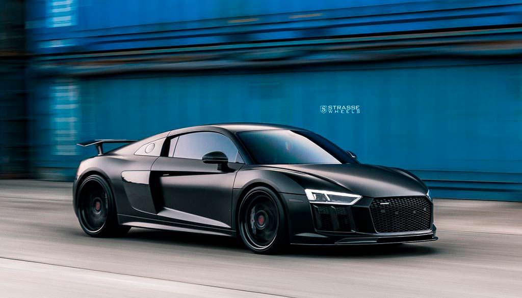 Audi R8 V10 Plus на колесах от Strasse Wheels