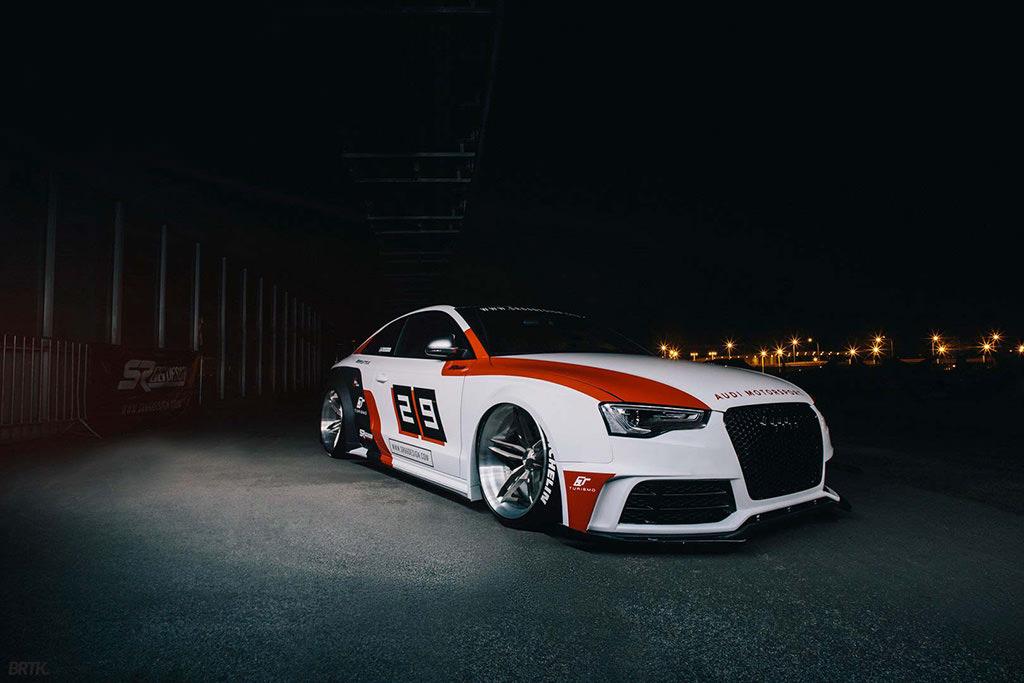 Audi S5 Coupe с пневмоподвеской от SR66 Design