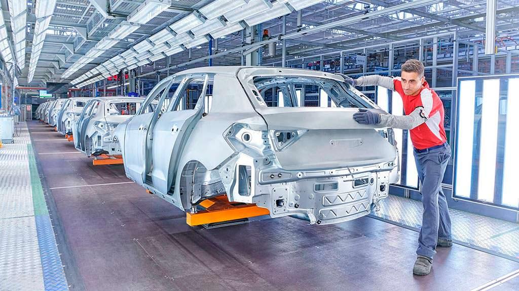 Кузов Audi A1 Sportback. Производство на заводе SEAT в Испании