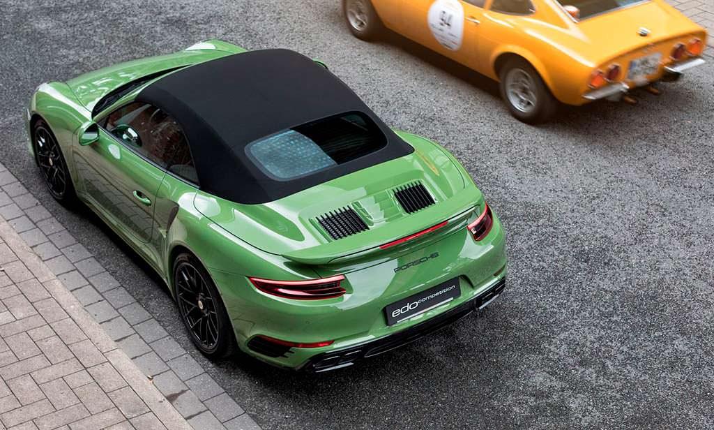 Родстер Porsche 911 Turbo S Cabriolet. Тюнинг Edo Competition