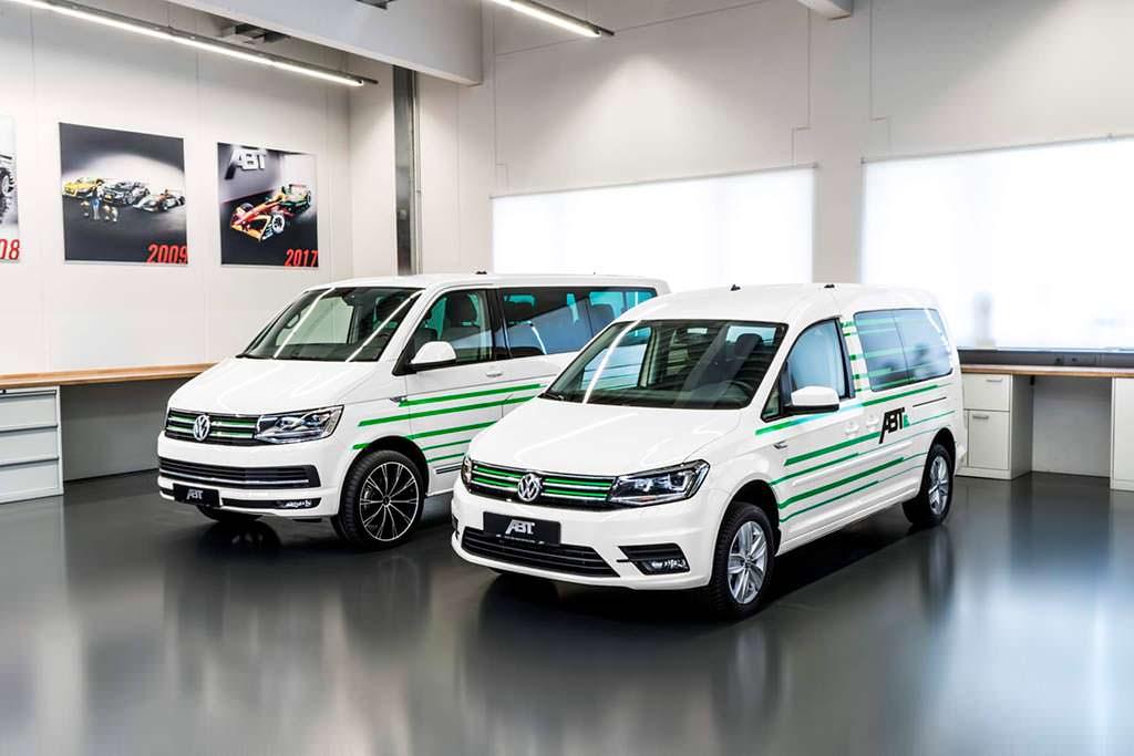 Электромобили Volkswagen e-Caddy и e-Transporter от ABT Sportsline