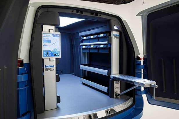 Грузовой отсек сервисного фургона Volkswagen I.D. Buzz Cargo