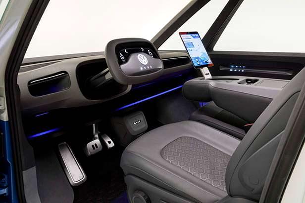 Интерьер электро-фургона Volkswagen I.D. Buzz Cargo
