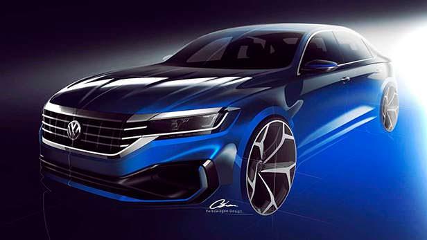 Рестайлинг Volkswagen Passat 2020