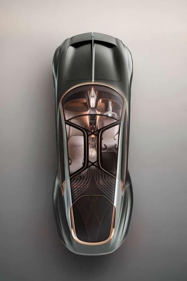 Bentley EXP 100 GT вид сверху