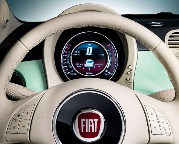 Приборная панель Fiat 500