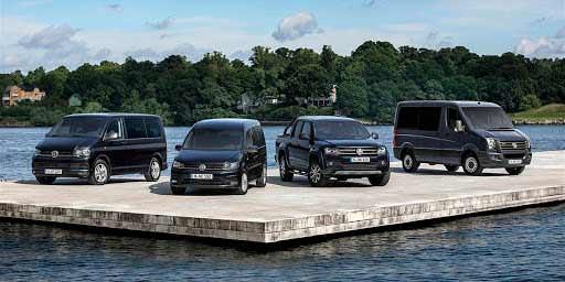 Модельный ряд Volkswagen Commercial Vehicles