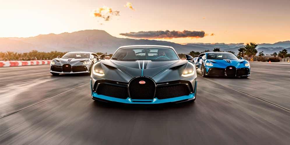 Три Bugatti Divo в одном кадре. Встреча на $18 млн   фото