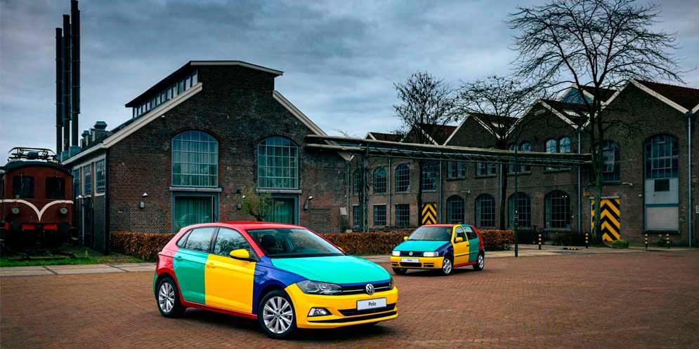 Разноцветный VW Polo Harlequin вернулся спустя 26 лет | фото