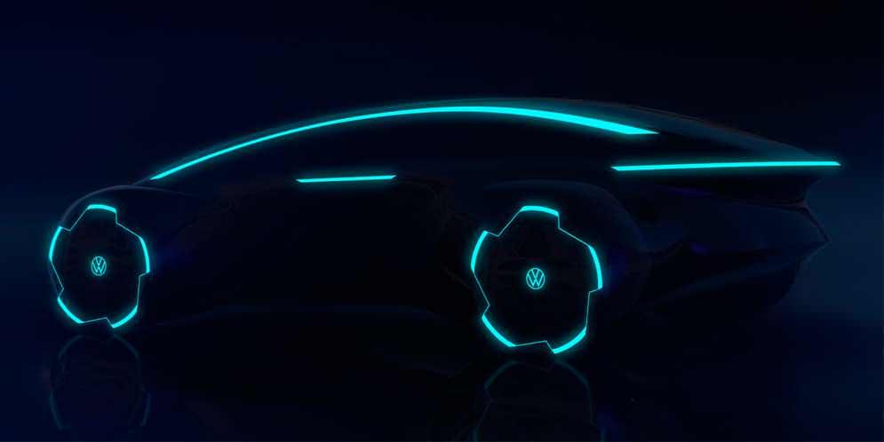 Volkswagen показал силуэт электро-флагмана Project Trinity