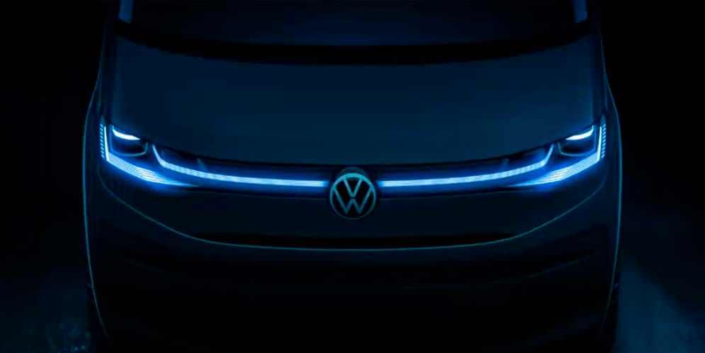 Новый Volkswagen T7 Multivan приоткрыл дизайн передка