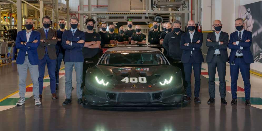 Lamborghini выпустила 400-й гоночный суперкар Huracan   фото