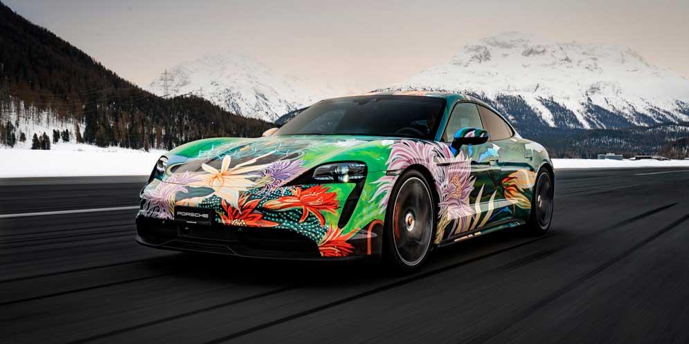 Арт-кар из Porsche Taycan продан за $200 000   фото