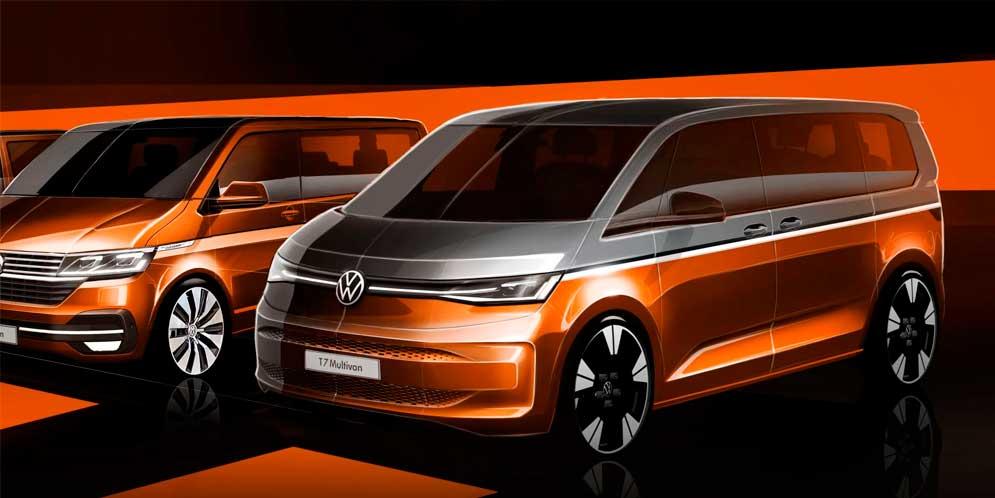Новый Volkswagen T7 Multivan покажут 10 июня. Будет гибрид