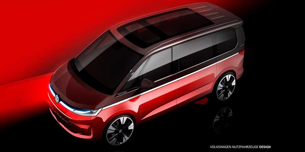 Новый Volkswagen T7 Multivan продолжает раскрывать дизайн