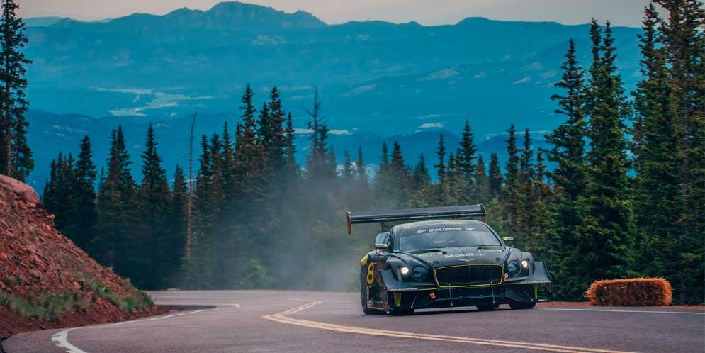 Bentley Continental GT3 не смог установить новый рекорд Пайкс-Пик
