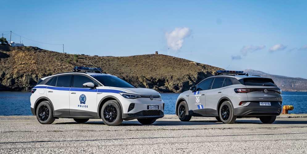 Полиция острова в Греции переходит на электромобили VW ID.4
