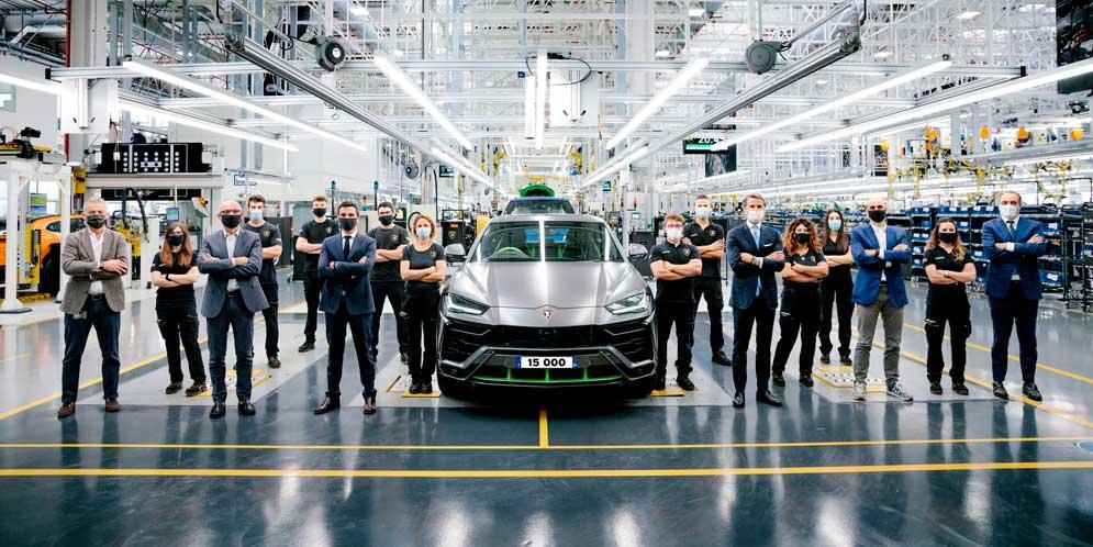 Urus абсолютный бестселлер Lamborghini. Продано 15 000 машин
