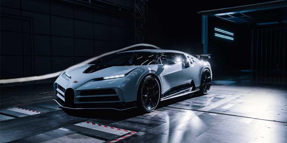 Bugatti Centodieci прошёл испытания в аэродинамической трубе